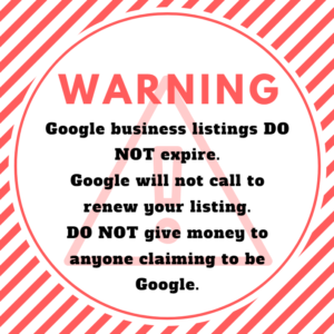 Warning Google Business Calls