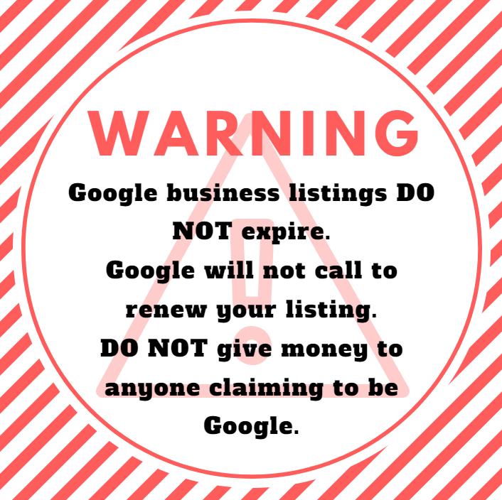 Warning Google Business Calls
